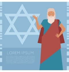 Moses Jew Banner vector