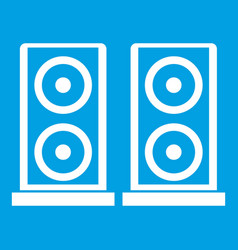 music speakers icon white vector image