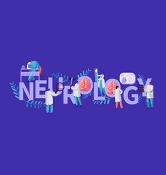 Neurology medical banner neurologist medic vector