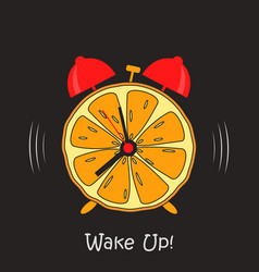 orange clock vector image
