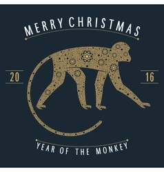 Ornament golden monkey vector