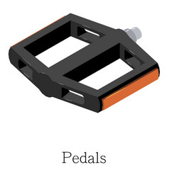 Pedal bike icon isometric 3d style vector
