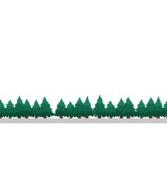 Pixel Art Trees vector image
