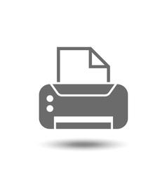 print icon vector image