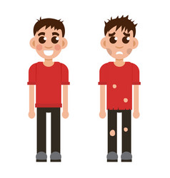 Rich and poor children vector