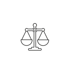 scales balance online icon vector image