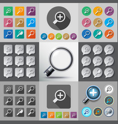 search with loupe vector image