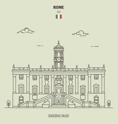 senatorial palace in rome italy vector image