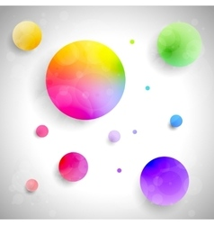 set of colored balls vector image