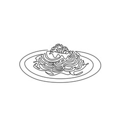 single continuous line drawing stylized vector image
