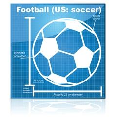 Soccer blueprint vector