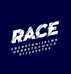 sport style modern font alphabet letters and vector image