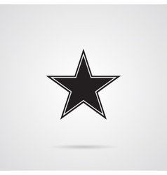 Star Dark Gray Icon over wnite vector image
