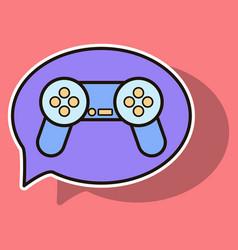 Sticker icon of social media e-mail game joystick vector