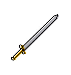 sword medieval weapon vector image
