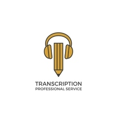 Transcription service logo vector image