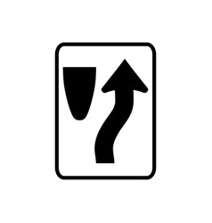 Usa traffic road sign keep to right of vector
