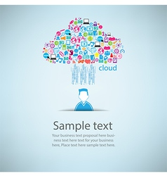 User clicking cloud icon Concept EPS10 vector