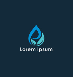 water and leaf concept logo vector image