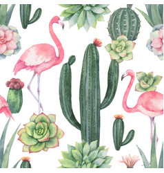 Watercolor seamless pattern pink vector
