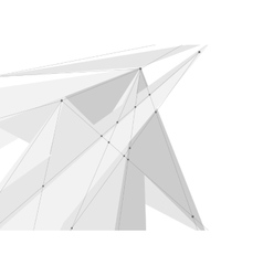 White grey abstract technology low poly vector image