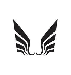 Wing falcon bird logo vector