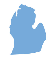 michigan state map vector image