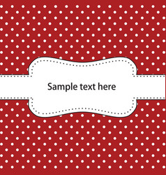 Polka dot design vector image