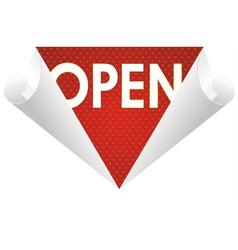 wallpaper top open vector image