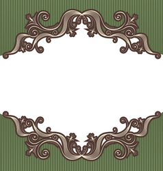 abstract vintage frame vector image vector image