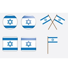 badges with flag of Israel vector image