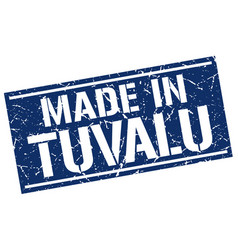 made in tuvalu stamp vector image