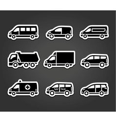 Set of sticky stickers transport signs vector image vector image