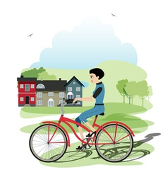 Young cyclists vector image