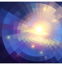Abstract violet shining circle tunnel background vector image vector image