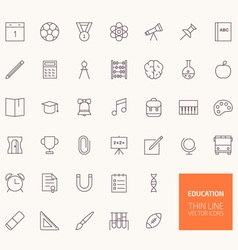 Education Outline Icons for web and mobile apps vector image vector image