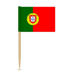flag of portugal toothpick vector image vector image