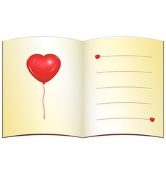 Love greeting card with place for text vector image vector image