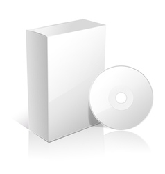white box and cd vector image vector image