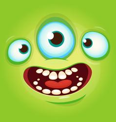 alien face cartoon avatar vector image