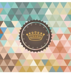 background made of triangles Retro label vector image