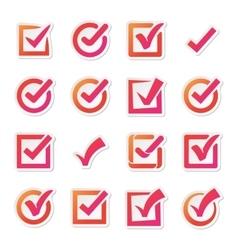 Check box icons set vector image