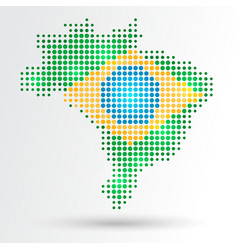 Dotted Brazil map vector image