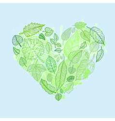 Heart of the leaves Seasons Background vector image
