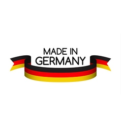 Made in Germany symbol colored ribbon with the vector image vector image