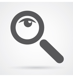 magnifier glass and eye icon vector image