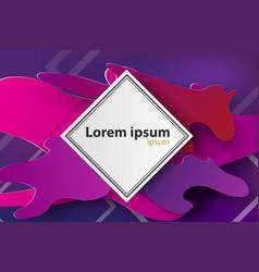 paper art of frame colorful backgroundpurple vector image vector image