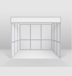 white indoor trade stand isolated with background vector image vector image