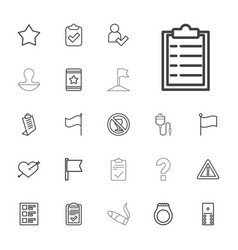 22 mark icons vector
