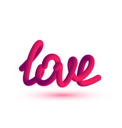 3d word love fluid effect vector image